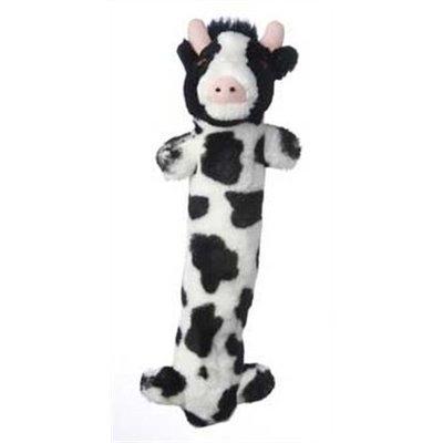 Multipet Look Who's Talkin Loofa Cow Plush Dog Toy