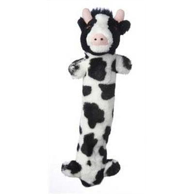 Multipet Look Who's Talkin Loofa Cow Plush Dog Toy