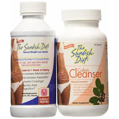 The Swedish Diet Kit with Colon Cleanse and Fiber, 2 Pound