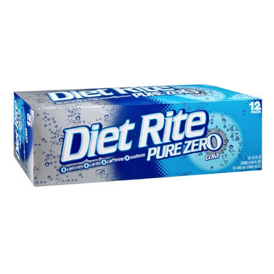 Diet Rite Pure Zero Cola - 12 CT