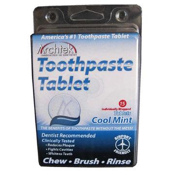 Archtek 542-CM Toothpaste Tablet- 6 Packs of 15 each