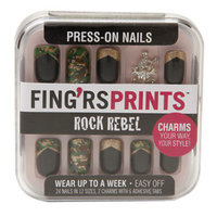 Fing'rs Prints Press-on Nails, Rock Rebel - Cameo Appearance, 1 set