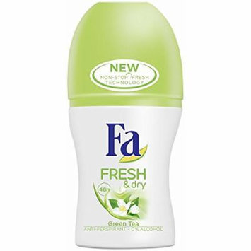 Fa Fresh & Dry Green Tea 48h Roll-On Deodorant Anti-Perspirant 50 ml / 1.7 oz
