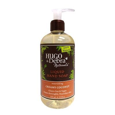 Hugo & Debra Naturals Liquid Hand Soap, Creamy Coconut, 12 fl oz