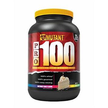Mutant PRO 100 Whey, Delicious High Quality Gourmet Protein Powder, Birthday Cake, 2 Pound