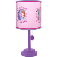 Disney Sofia the First Table Lamp with Diecut Double Shade