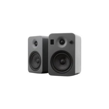 Kanto Distribution Kanto YUMI Powered Bookshelf Speakers w/Bluetooth 4.0, Matte Gray