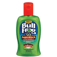 Bull Frog SuperBlock Lotion Sunblock with SolarSphere SPF 50, 5 Oz (Pack of 3)