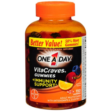 One A Day VitaCraves Gummies + Immunity Support, Orange, 150 ea