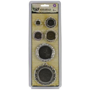 Prima Marketing, Inc. Mechanicals Metal Embellishments Pendants 6/Pkg