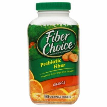 Fiber Choice Prebiotic Fiber Chewable Tablets, Orange, 90 ea