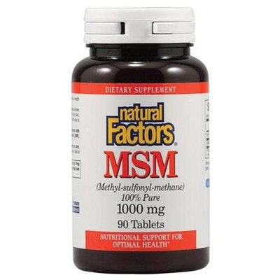 MSM 1000 mg 90 Tabs by Natural Factors