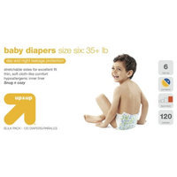 up & up Baby Diapers Bulk Size 6 120 ct