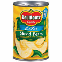 Del Monte : Bartlett In Extra Light Syrup Pears Sliced Lite