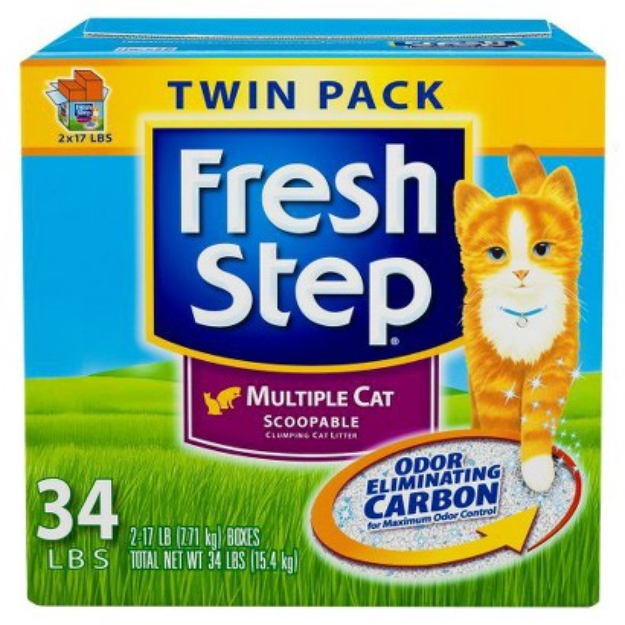Fresh Step Premium Scoopable Clumping Cat Litter for Multiple Cats -