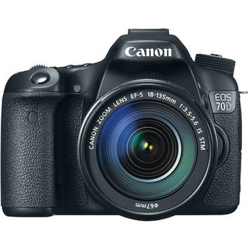 Canon EOS 70D DSLR Camera with 18-135mm STM f/3.5-5.6 Lens with Lightroom
