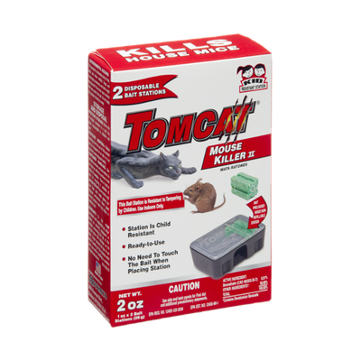 Tomcat Mouse Killer II Disposable Bait Stations Kills House Mice