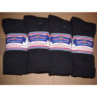 Physician's Choice DIABETIC SOCKS,12 PAIR,CREW 13-15,PLUS SIZE,BLACK,PHYSICIANS CHOICE