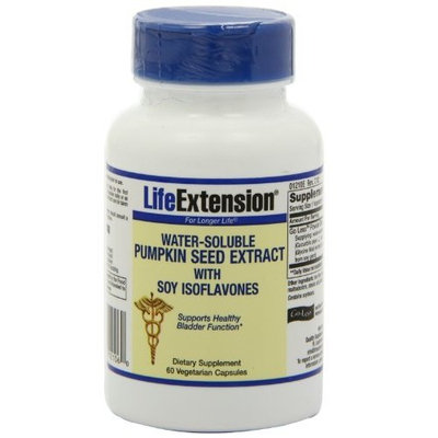 Life Extension Water-Soluble Pumpkin Seed Extract Veggie Caps, 60-Count