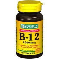 Good 'N Natural - Sublingual Vitamin B-12 2500 mcg. - 50 Tablets