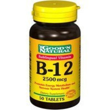 Good 'N Natural - Sublingual Vitamin B-12 2500 mcg. - 50 Tablets