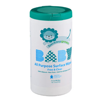 Berkley Green Baby All Purpose Surface Wipes - 75 CT
