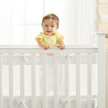 BreathableBaby AirFlow Baby 14 inch Mesh Wrap Crib Liner, Available in Multiple Colors