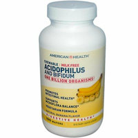 American Health Acidophilus with Bifidus Chewable Banana 100 Wafers