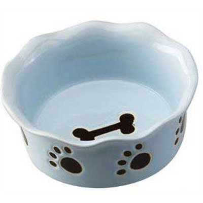 Ethical Ruffled Dog Dish in Blue
