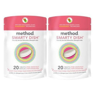 Method Smarty Dish Detergent - Pink Grapefruit - 20 ct (Pack of 4)