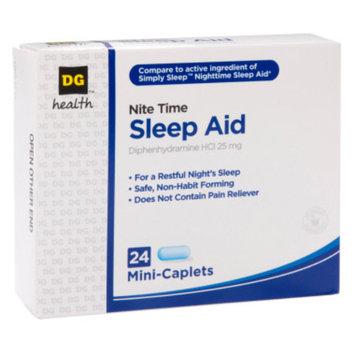 DG Health Nite Time Sleep Aid - Mini Caplets, 24 ct