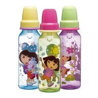 Munchkin BPA Free Dora the Explorer Classic Bottles 3-Pack, 8 oz