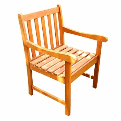 VIFAH Outdoor Wood Nobi Armchair, 1 ea