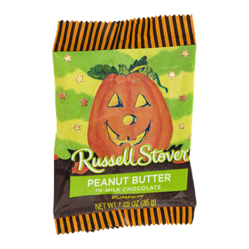 Russell Stover Peanut Butter in Milk Chocolate Pumpkin