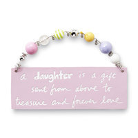 C.r. Gibson Company C.R. GIBSON COMPANY Infant Girl's Inspirational Quote Plaque - C.R. GIBSON COMPANY