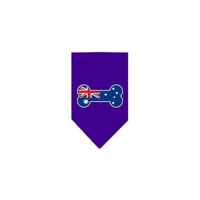 Ahi Bone Flag Australian Screen Print Bandana Purple Small