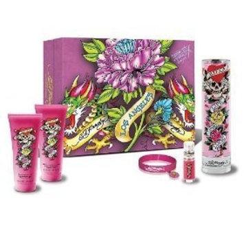 Christian Audigier Ed Hardy for Women Gift Set - 3.4 oz EDP Spray + 3.0 oz Body Lotion + 3.0 oz Shower Gel + 0.25 oz EDP Mini + Bracelet