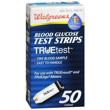 Walgreens Truetest Blood Glucose Test Strips