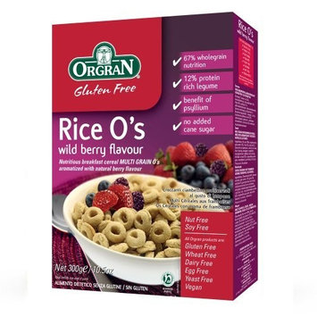 Orgran Rice O's wild berry cereal, 10.5-Ounce Boxes (Pack of 3)