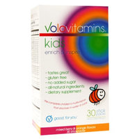 VoloVitamins Kids Multivitamin Stick Packs, Mixed Berry & Orange, 30 ea
