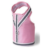 Doggles Dog Wear Reflective Mesh Vest Harness Size: Medium, Color: Pink and Gray