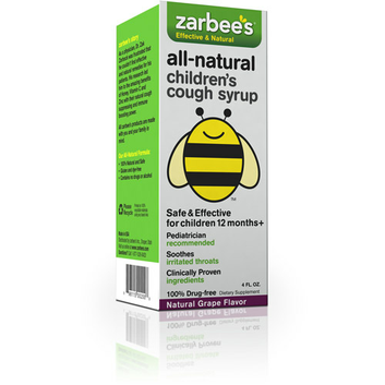 Zarbee's Children's All-Natural Cough Syrup, Grape Flavor
