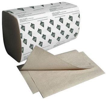 TOUGH GUY 36P068 Paper Towel, Single Fold, Brown, PK16