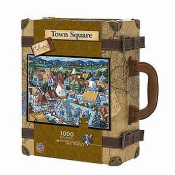 Masterpieces Puzzles Collector's Edition Town Square Suitcase Puzzle