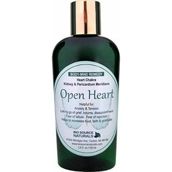 Open Heart Body Mind Vibrational Remedy Lotion 3.8 oz. for Fear, Grief, Loss, Disappointment made with Bach Flower Essences, Gem Elixirs and Pure Essential Oils