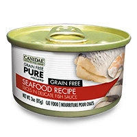 Canidae Grain Free Pure Recipes Seafood Canned Cat Food, 3 oz.