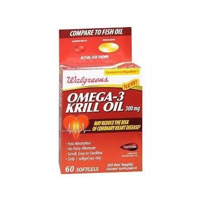 Walgreens Omega-3 Krill Oil 300mg Softgels 60 ea