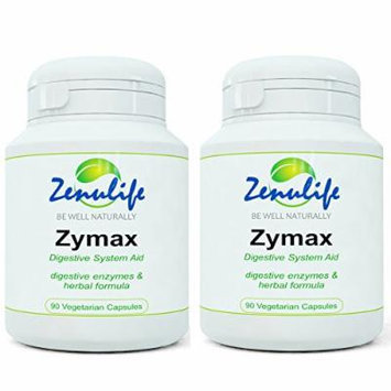 Zymax Natural Detox And Digestive System Aid 90 Capsules Cleanses Unwanted Toxins - 2 Bottles