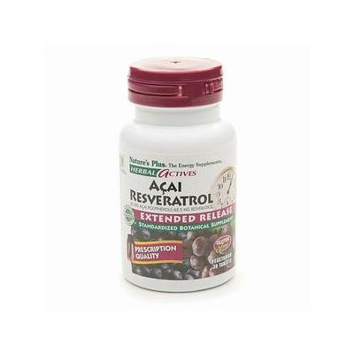 Nature's Plus Acai Resveratrol 60 mg / 62.5 mg Polyphenols Extended Release 30 vegetarian tablets