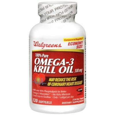 Walgreens Omega 3 Krill Oil 300 Mg Softgels 120 ea